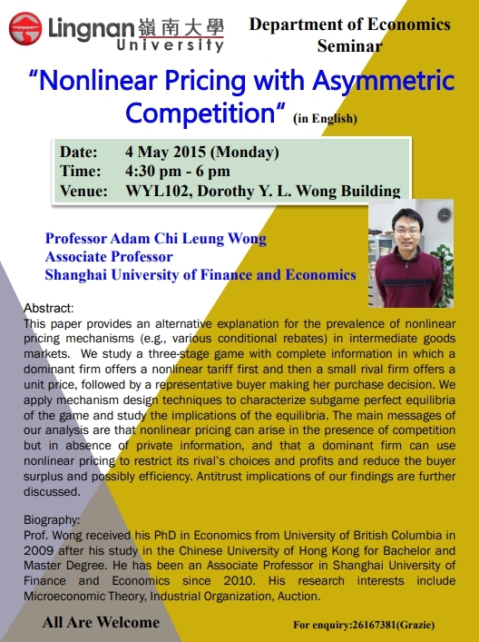 Nonlinear-Pricing-with-Asymmetric-Competition - Lingnan University