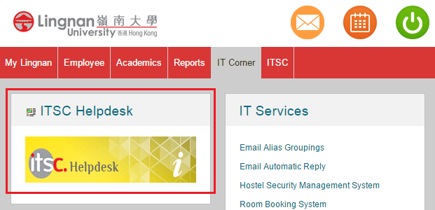 Log in ITSC Helpdesk
