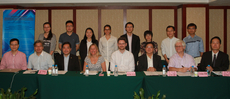 "Representatives of Lingnan University including Prof Joshua Mok Ka-ho (front row, 3rd from left), Prof Alfred Chan Cheung-ming (front row, 3rd from right) and Prof Esra Burak Ho (back row, 4th from left) attended the international symposium on ""Managing Rapid Social and Economic Changes: International Responses and Urban Governance""."