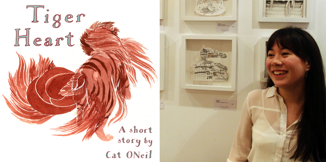 """""""Tiger Heart"""" - an exhibition by Artist-in-residence Cat O'Neil"""