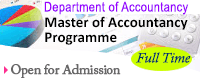 Master of Accountancy Programme