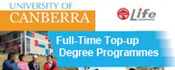 University of Canberra - Full-Time Top up Degree Programmes