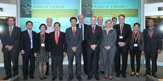 Lingnan scholars share insights on trade in higher education