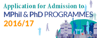 Application for Admission to MPhil & PhD Programmes 2016/17