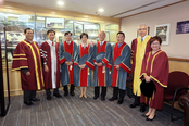 Honorary Fellows with Presiding Officers