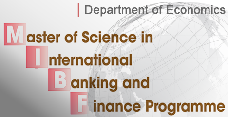 Master of Science in International Banking and Finance Programme