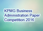 KPMG Business Admin Paper Competition 2016