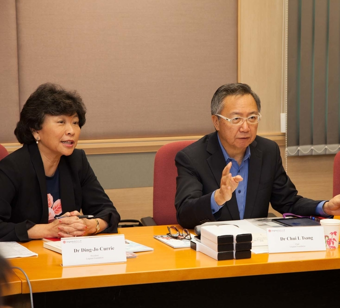 Visit by Lingnan Foundation Board of Trustees