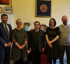 Lingnan Research Team promotes international collaboration in the UK