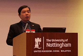 Lingnan Vice-President gives talk at Universitas 21 Forum
