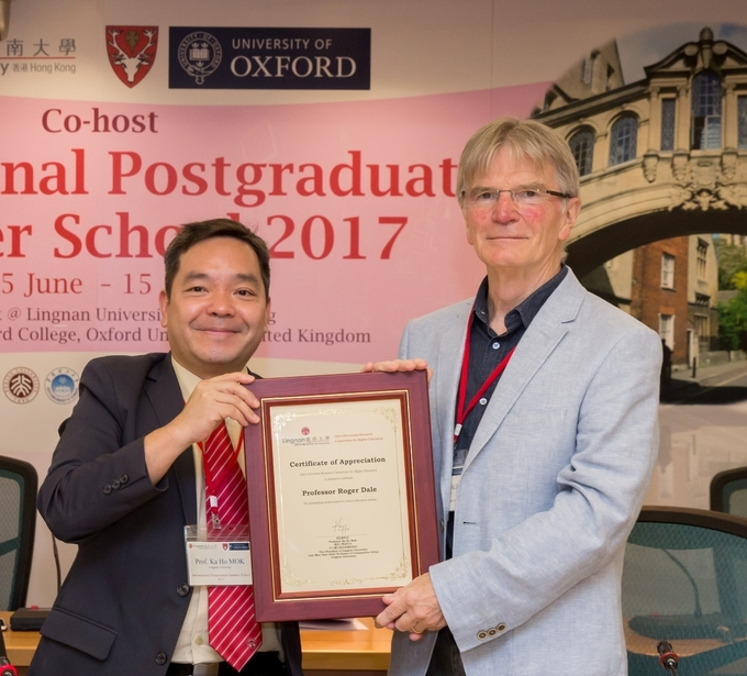 Lingnan University and Hertford College of the University of Oxford co-host International Postgraduate Summer School