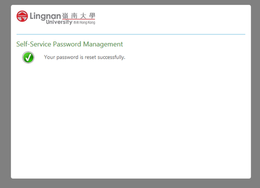 Password reset completed