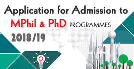 Application for Admission to MPHil & PhD Programme 2018-19
