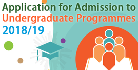 Application for Admission to Undergraduate Programmes 2018-19