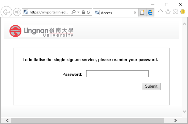 single sign-on password