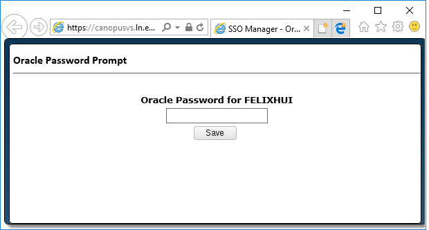 Oracle password