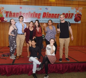 Students and staff celebrate Thanksgiving