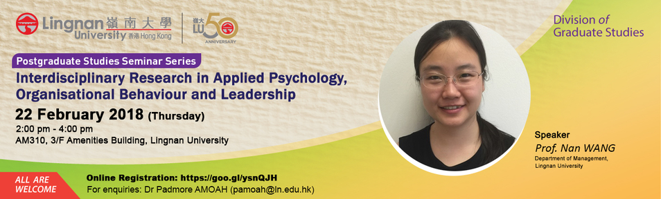 Interdisciplinary Research in Applied Psychology, Organisational Behaviour and Leadership