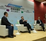 Prof Anthony Cheung Bing-leung and Mr Stanley Wong Yuen-fai discuss housing issues at Distinguished Leaders Dialogue