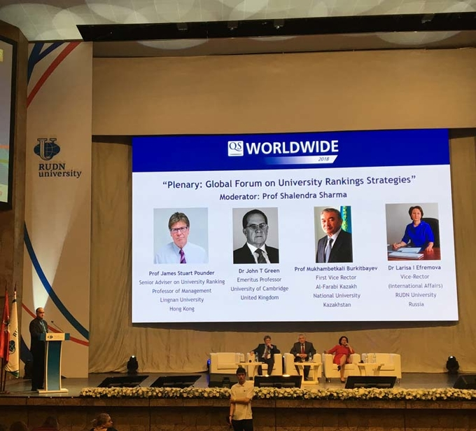 Lingnan representatives participate in QS WORLDWIDE summit