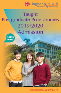 Taught Postgraduate Programmes 2019/2020 Admission
