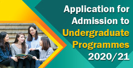 Application for Admission to Undergraduate Programmes 2020/21