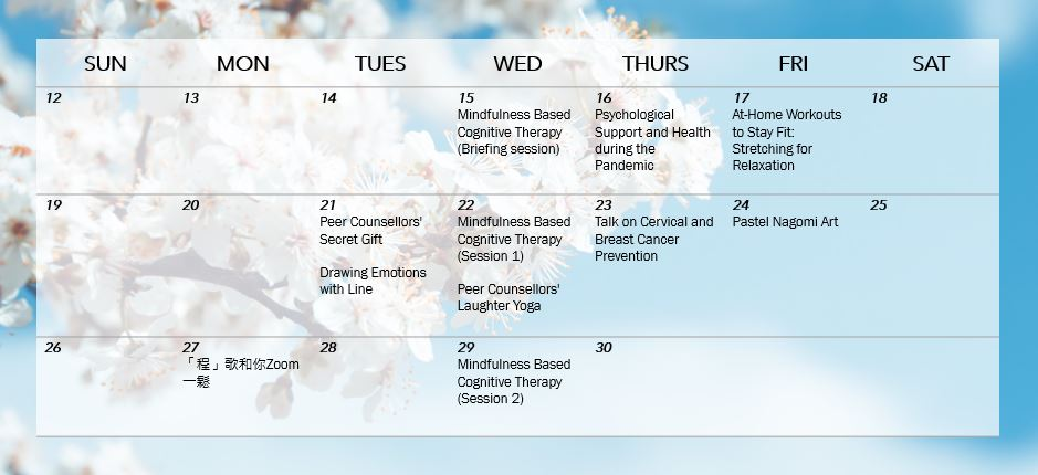 Wellness April 2020 Schedule