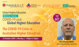 Around 25% of students in higher education in Australia come from abroad. Prof Anthony Welch, Professor of Education, Sydney University explains how COVID19 affects the sector in part 2 of the Global Higher Education Webinar Series on 12 Oct