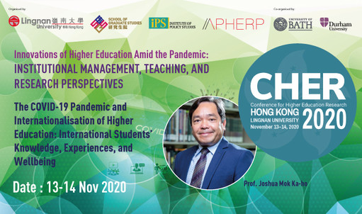 Does the internationalisation of education favour the privileged, and has this been exacerbated by the pandemic? Hear insights from Prof Joshua Mok, Dean of Graduate School at CHER-Hong Kong on 13-14 Nov 2020