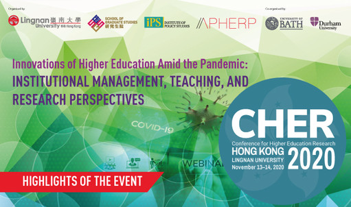 Lingnan hosts Conference for Higher Education Research (CHER) 2020 as it looks at ways to reinvent higher education