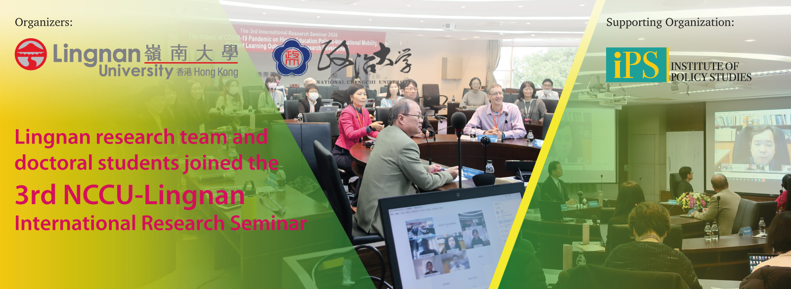 Lingnan research team and doctoral students joined the 3rd NCCU-Lingnan International Research Seminar