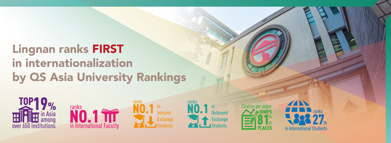 Lingnan ranks FIRST in internationalisation by QS Asia University Rankings 2021