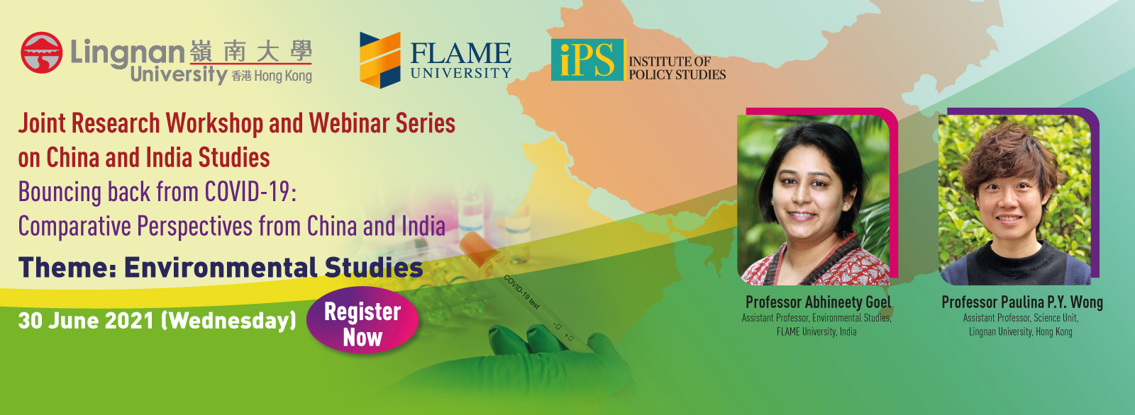 Joint Research Workshop and Webinar Series on China and India Studies - Environmental Studies